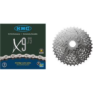 Shimano Alivio CS-HG400 Kassette 11-32 & KMC X-9-73 Kette 9-fach Bundle bei fahrrad.de Online