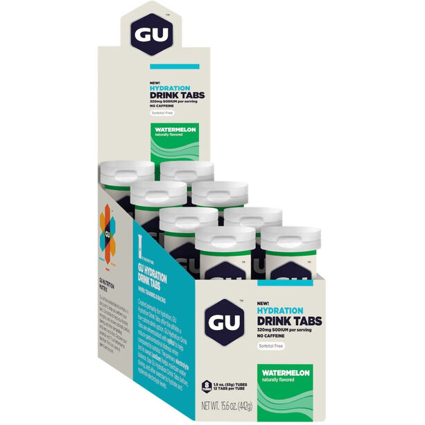 GU Energy Hydration Drink Tabs Box 8x12 Stück Watermelon