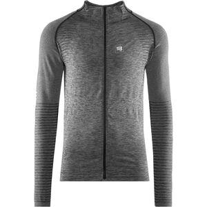 Compressport Nahtloses Zip Sweatshirt grey melange grey melange