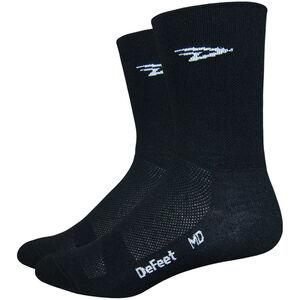 "DeFeet Aireator 5"" Double Cuff Socken d-logo (schwarz) d-logo (schwarz)"
