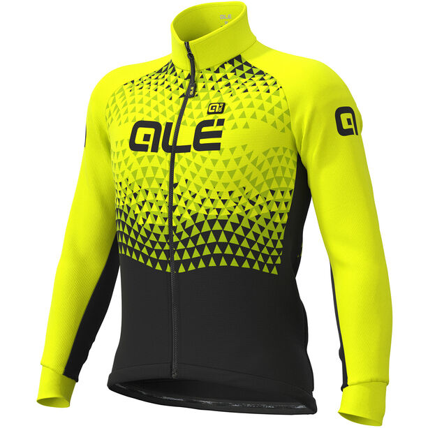 Alé Cycling Solid Summit DWR Jacke Herren black-fluo yellow