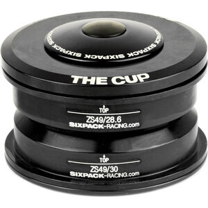 Sixpack The Cup Steuersatz ZS49/28.6 I ZS49/30 schwarz schwarz