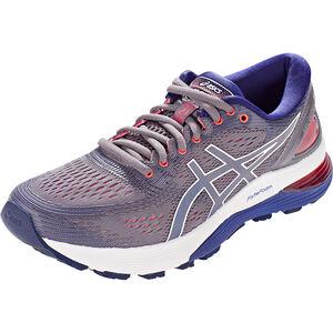 asics Gel-Nimbus 21 Shoes Damen lavender grey/dive blue lavender grey/dive blue