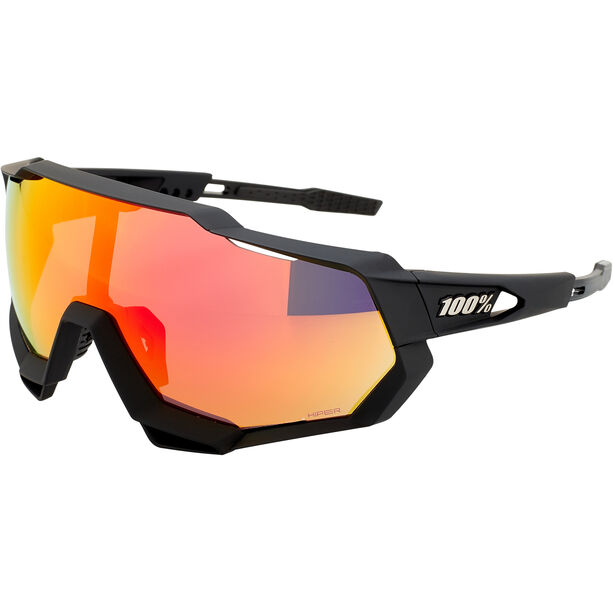100% Speedtrap Brille soft tact black | hd red multilayer mirror lense/hiper lense