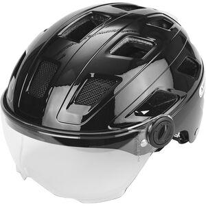 ABUS Hyban+ Helmet black, clear visor black, clear visor