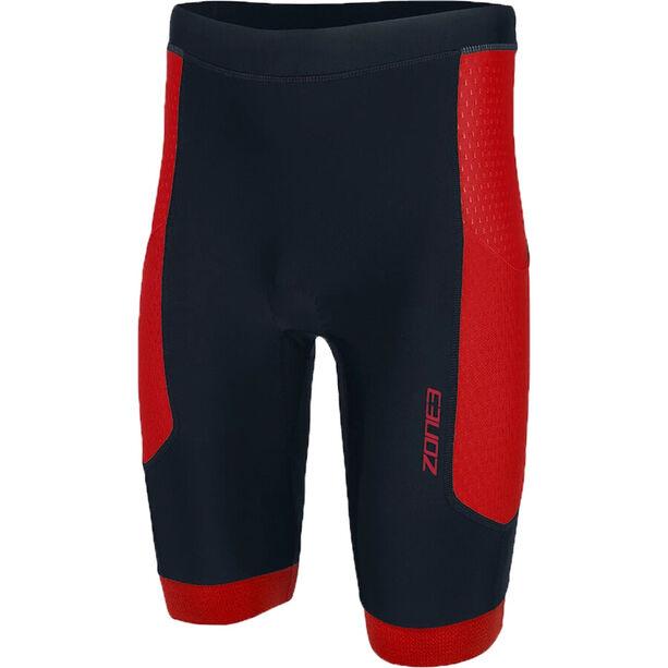 Zone3 Aquaflo Plus Shorts Herren black/red