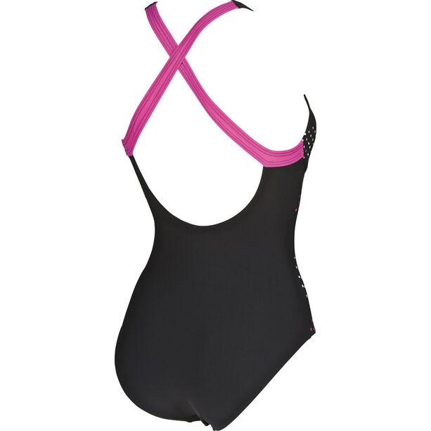 arena Leda Embrace Back One Piece Swimsuit Damen black-rose violet