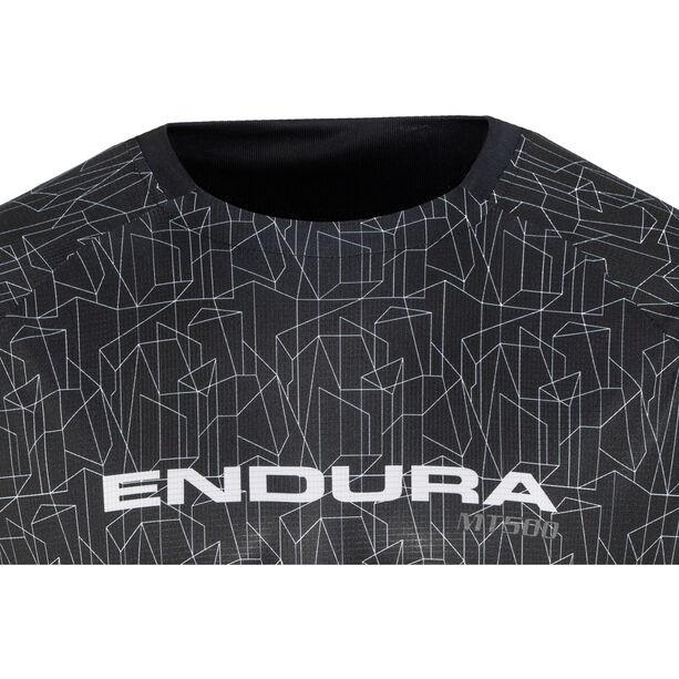Endura MT500 Print Trikot langarm Herren schwarz