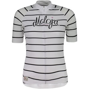 Maloja SommaviaM. Shortsleeve Bike Jersey Damen snow stripe snow stripe