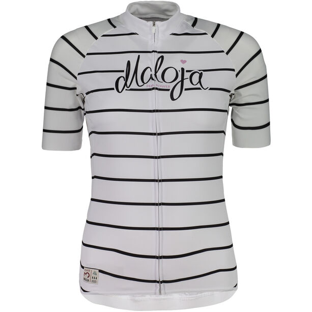 Maloja SommaviaM. Shortsleeve Bike Jersey Damen snow stripe