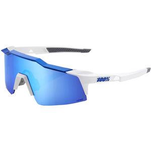 100% Speedcraft HD Multilayer Mirror Glasses Small matte white/blue matte white/blue