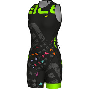 Alé Cycling Olympic Triathlon Stelle SS Skinsuit Women black-fluo green bei fahrrad.de Online