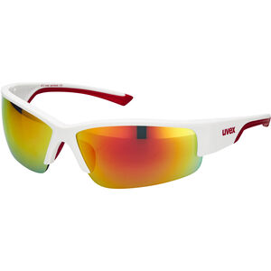 UVEX Sportstyle 215 Sportbrille white mat red/red white mat red/red