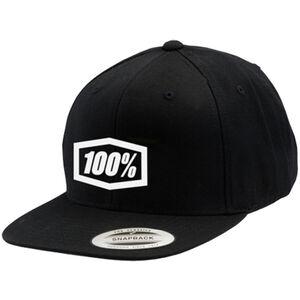 100% Corpo Snapback Hat black black