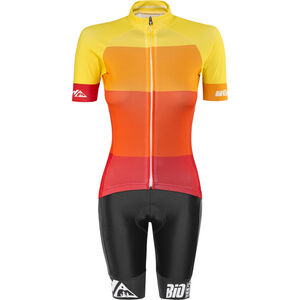 Red Cycling Products Colorblock Race Set Damen red-yellow red-yellow