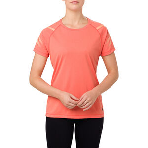 asics Icon SS Top Damen coralicious heather coralicious heather