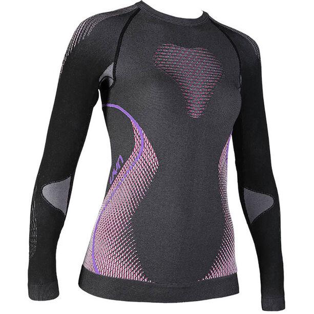 UYN Evolutyon Melange UW LS Shirt Damen anthracite melange/raspberry/purple