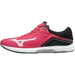 Mizuno Wave Sonic Running Shoes Damen teaberry/white/black teaberry/white/black
