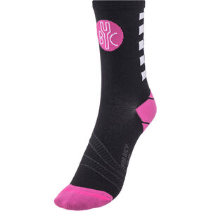 FOR.BICY Chequer Socks Damen black/pink/white black/pink/white