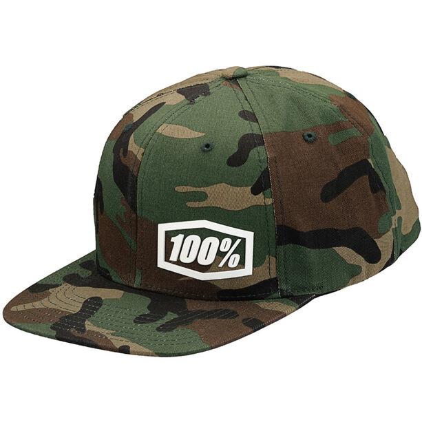 100% Machine Snapback Hat camo black/green