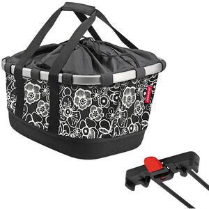 KlickFix Reisenthel Bikebasket GT für Racktime fleur schwarz fleur schwarz