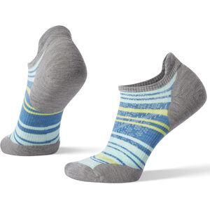 Smartwool PhD Run Light Elite Striped Micro Socks Damen light gray/mint light gray/mint