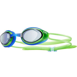 TYR Black Hawk Racing Goggles Kinder smoke/flou green smoke/flou green