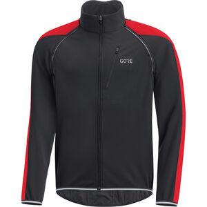 GORE WEAR C3 Windstopper Phantom Zip-Off Jacket Herren black/red black/red