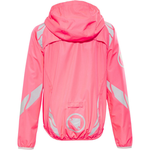Endura Luminite II Jacket Kinder hi-viz pink/reflective