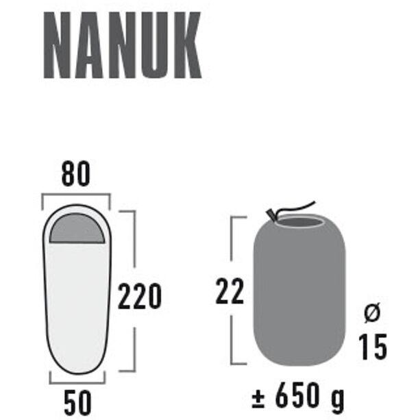 High Peak Nanuk Fleece Sleeping Bag black