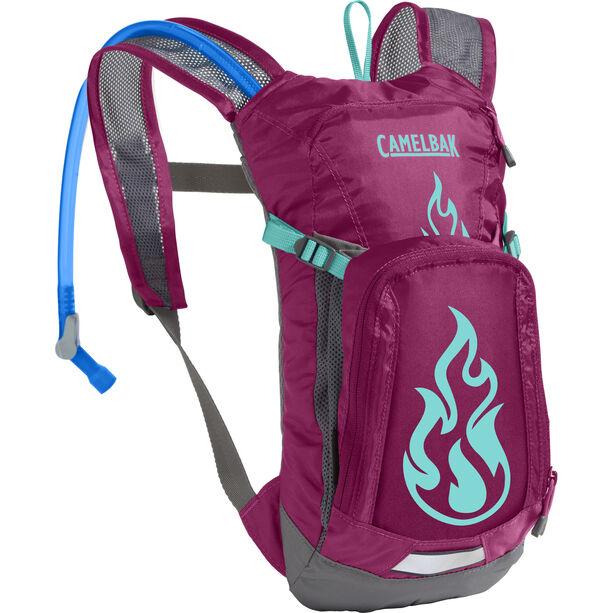 CamelBak Mini M.U.L.E. Hydration Pack 1,5l Kinder baton rouge/ flames