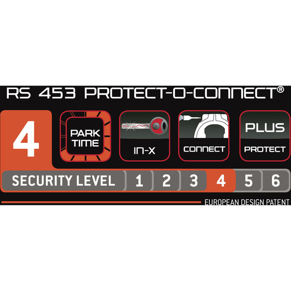 Trelock RS 453 Protect-O-Connect Rahmenschloss NAZ Balloon ZR 20 schwarz