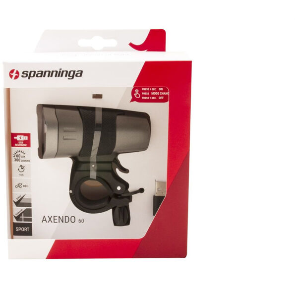 spanninga Axendo 60 Rechargeable Front Light StVZO