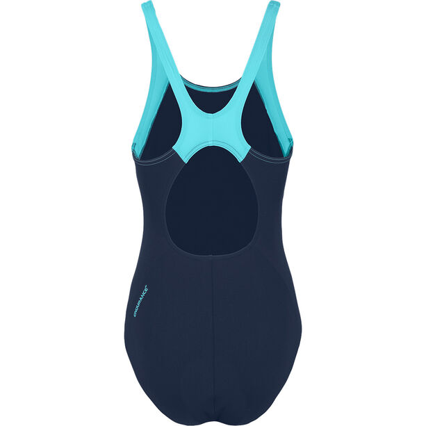 speedo Boom Splice Muscleback Swimsuit Damen navy/aquasplash