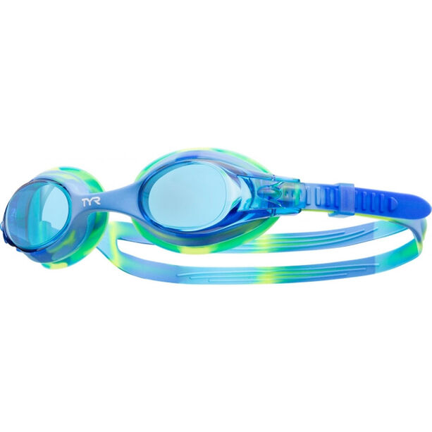TYR Swimple Tie Dye Goggles Kinder blue/blue/green