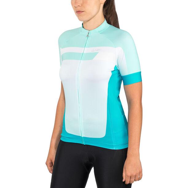 Löffler Hotbond Bike Jersey Full-Zip Damen topazblue
