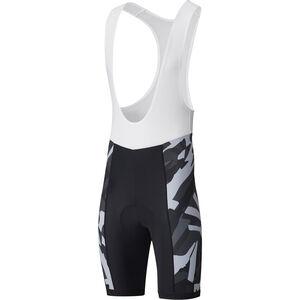 Shimano Team Bib Shorts Herren gray gray