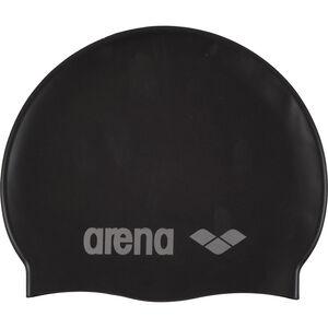 arena Classic Silicone Swimming Cap Kinder black-silver black-silver