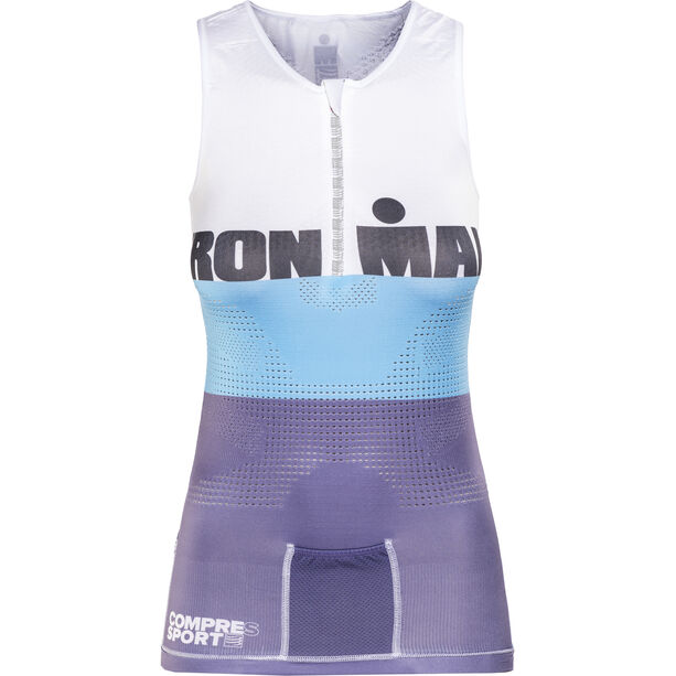 Compressport TR3 Triathlon Tank Top Ironman Edition Damen stripes grey