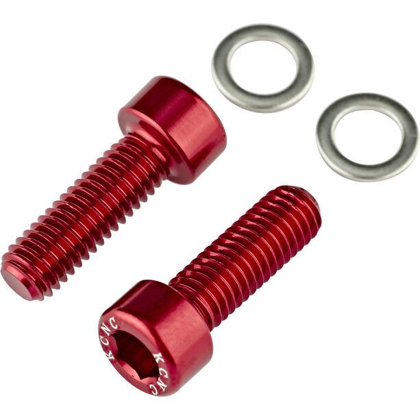 KCNC Flaschenhalter Schrauben red