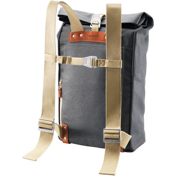 Brooks Pickwick Canvas Backpack 26l grey/honey