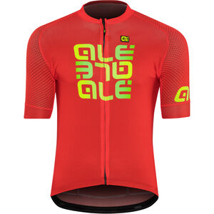 Alé Cycling Solid Mirror SS Jersey Herren red red