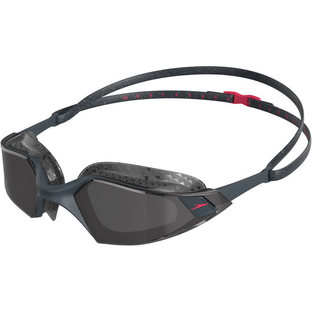 speedo Aquapulse Pro Brille oxid grey/psycho red/smoke