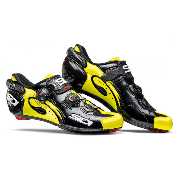 Sidi Wire Carbon Shoes Herren black/yellow fluo
