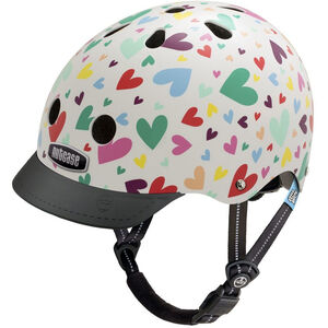 Nutcase Little Nutty Street Helmet Kinder happy hearts happy hearts