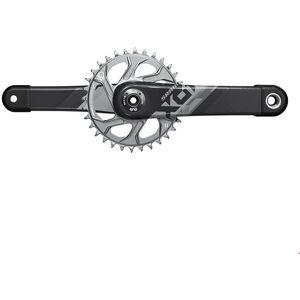 SRAM X01 Eagle DUB Kurbelsatz 12-fach 32Z black/silver black/silver