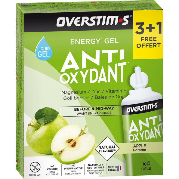 OVERSTIM.s Antioxydant Liquid Gel Box 3+1 Free 4x30g Green Apple