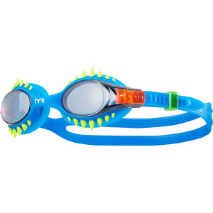TYR Swimple Spikes Goggles Kinder smoke/blue smoke/blue