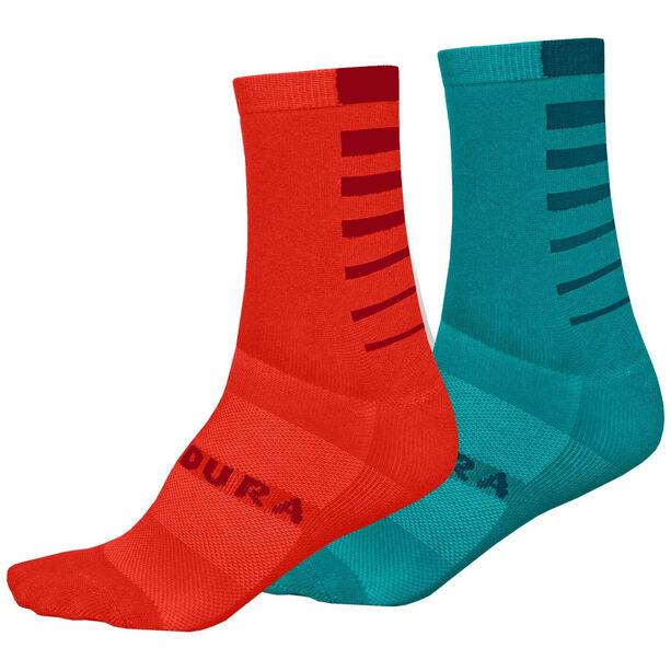 Endura Coolmax Stripe Socken 2er Pack Damen pacific blue