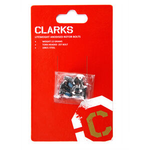 Clarks 6 Anodised Rotor Bolts black black